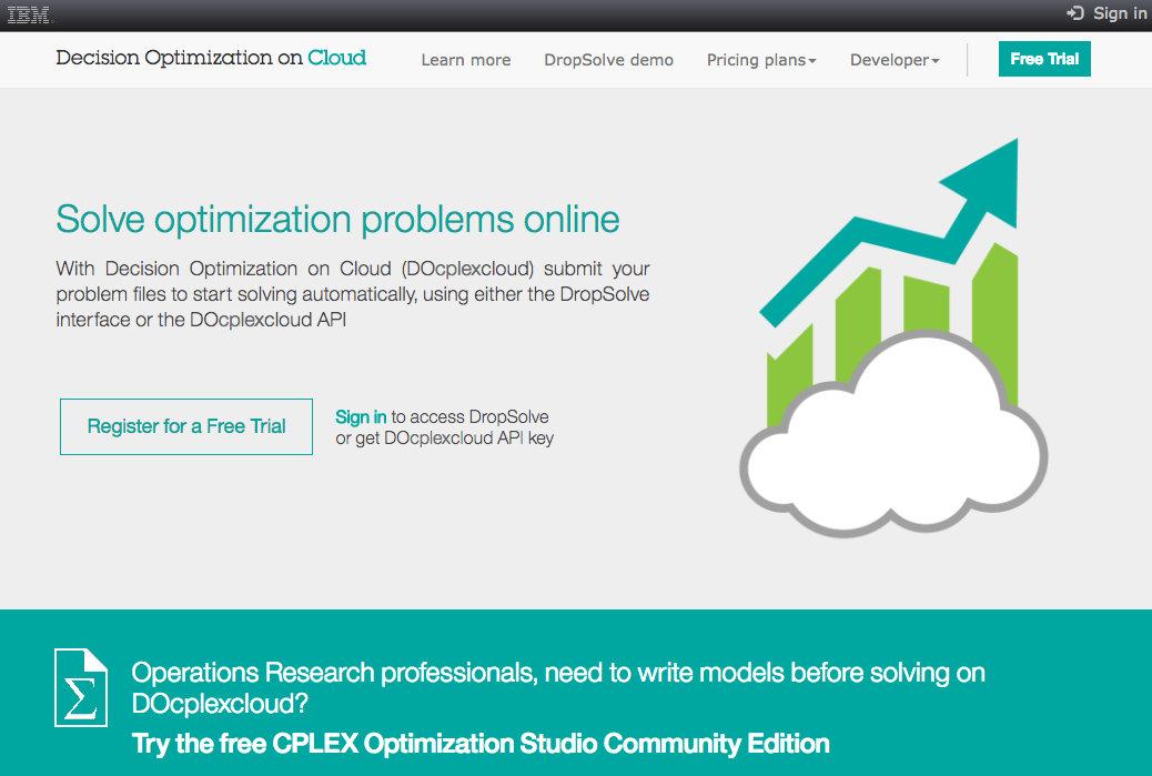 work: solving a DOcplex model on the cloud – Gobbledy Goon