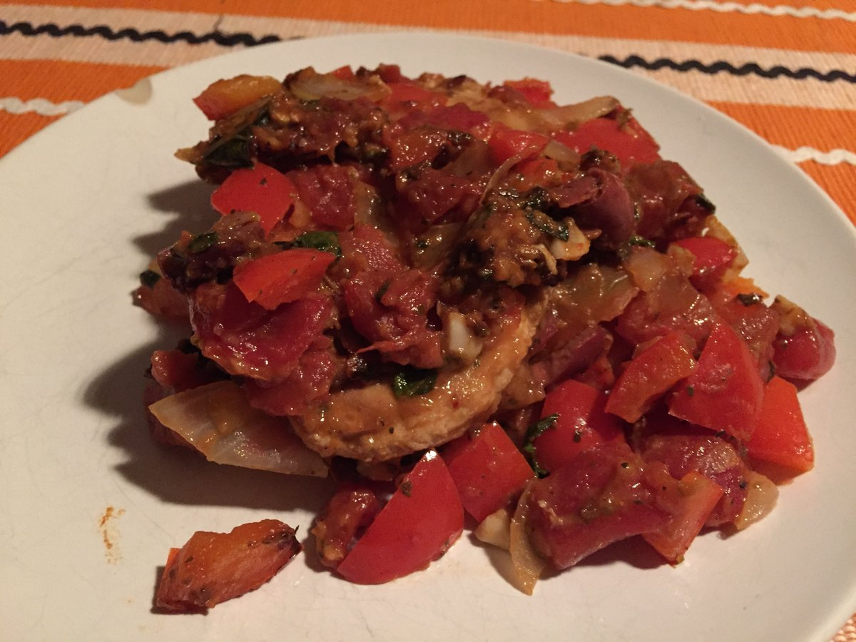"""chicken"" cacciatore - 15 oct 2017"